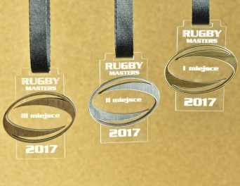 Medal drewniany Lux Rugby 1009